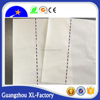 A4 white watermark and 3mm security thread bond paper,red hologram safety bar thread paper with fiber