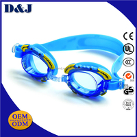 Best selling cartoon swim safety fashion swimming goggles for kids