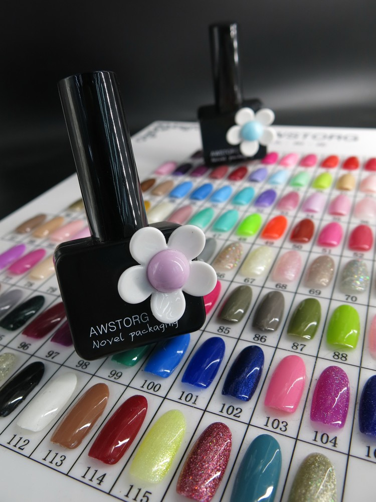 Flower bottle design for gel nail polish Top & Base Coat Soak Off ...