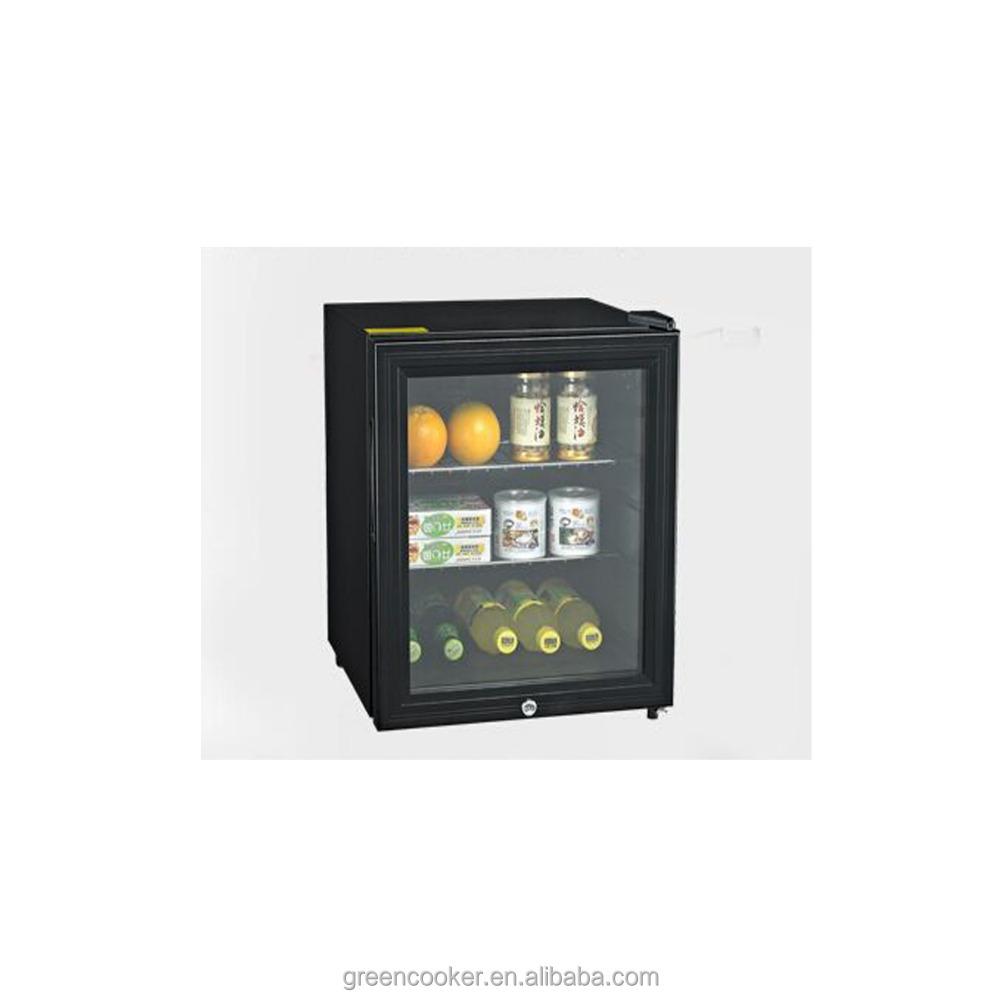 Glass Door Mini Fridgefan Cooling Small Refrigerator Buy Glass