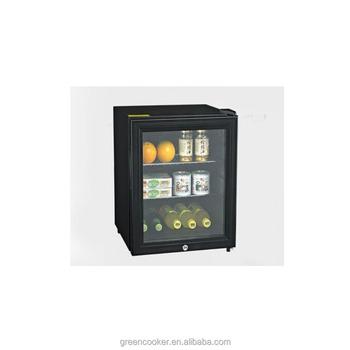 Glass Door Mini Fridge/Fan Cooling Small Refrigerator