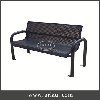 Arlau All Steel Chairs, Garden Metal Outdoor Storage Bench, China Wholesale  Custom Metal Outdoor