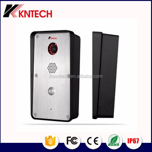 Camera wireless intercom for bank Telephone KNZD-47 wireless video door phone