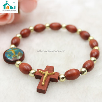 Catholic Wooden Rosary Bracelet Product On Alibaba