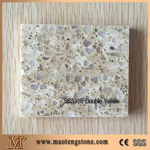 Double Yellow Artificial Yellow Stone Quartz Color