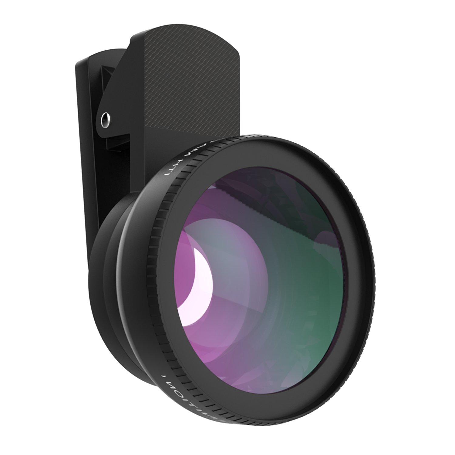 MoKo Universal Phone Camera Lens Kit, Clip-On 0.45X Super Wide Angle Lens and 15X Super Macro Lens, for iPhone SE / 6s / 6s Plus / 5s, Samsung Galaxy S6, HTC and Other Smartphone, BLACK