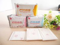 Ultra thin cotton sanitary napkin with negative ion for women