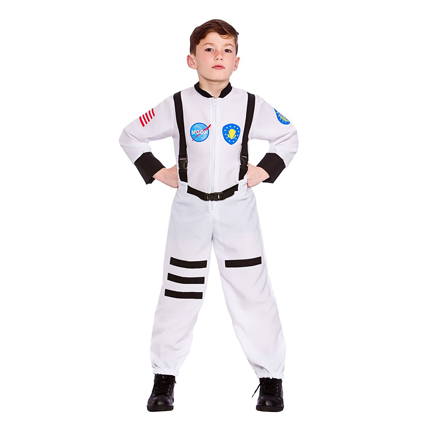 a3b160d0ff0d Get Quotations · Boys Moon Mission Astronaut Fancy Dress Up Party Costume  Halloween Child Outfit