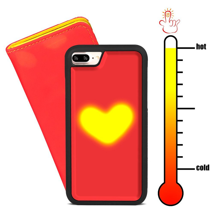 NEW design leather magical fashion color changing shockproof thermal cell phone pack case