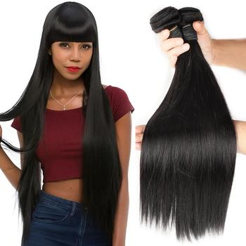 Grade 10A Natural Hair Weave Cheap Human Hair Weave Straight Human Hair Weave That Looks Like Natural Black