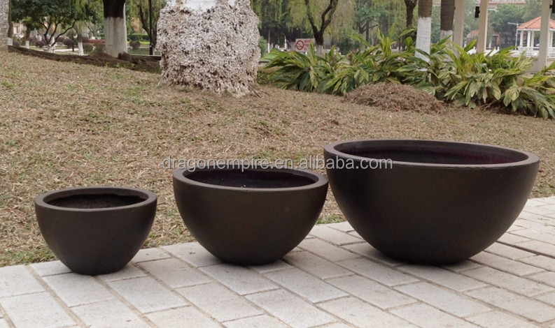 Large Round Bowl Fibergl Flower Pots