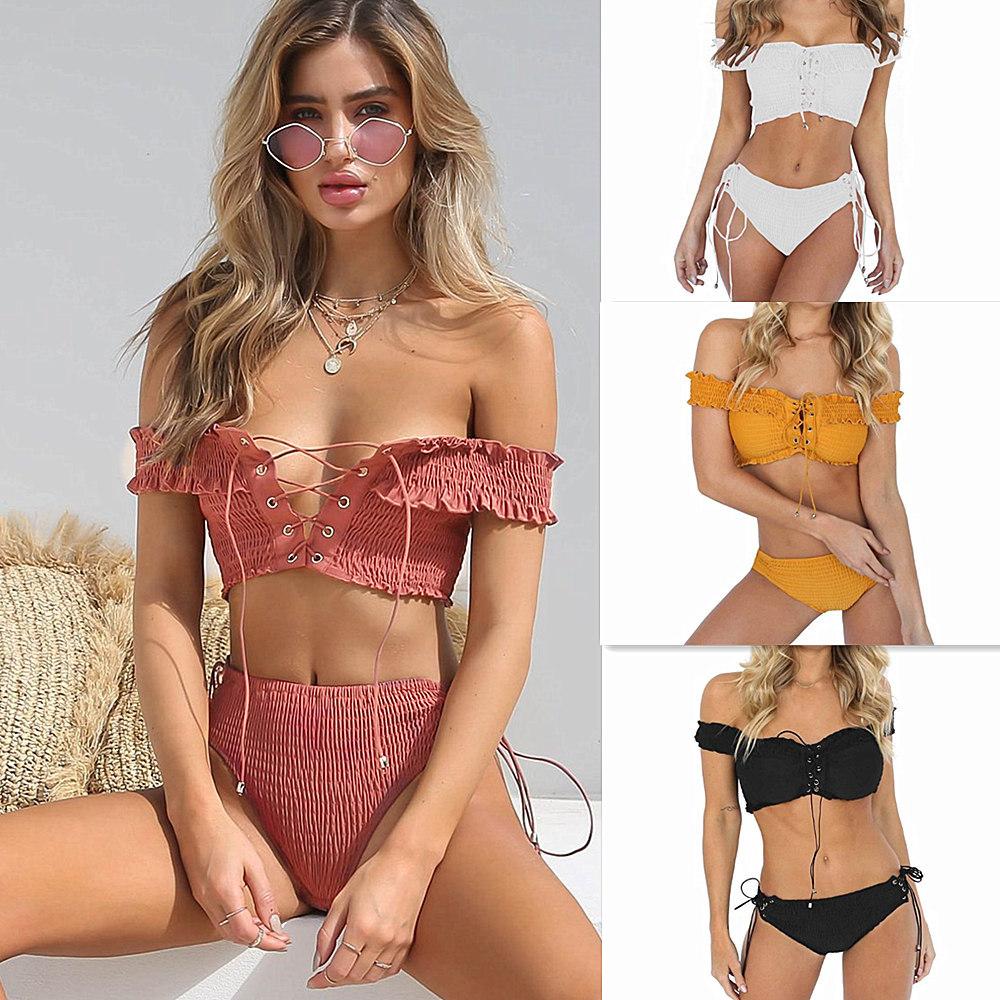 d83ff61655fb Venta al por mayor bikini blanco polyester-Compre online los mejores ...