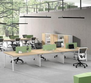 metal leg open space office 8 person call center workstation melamine tables