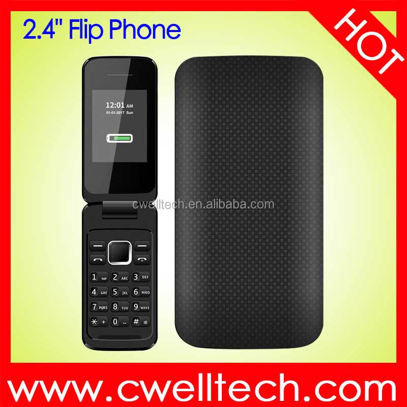 P1 GSM Quad Band 2.4 Inch TFT Screen Dual SIM Card Flip cheap Phone