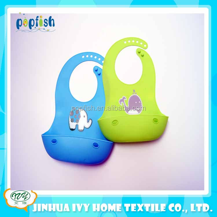 promotional colorful baby plastic bibs