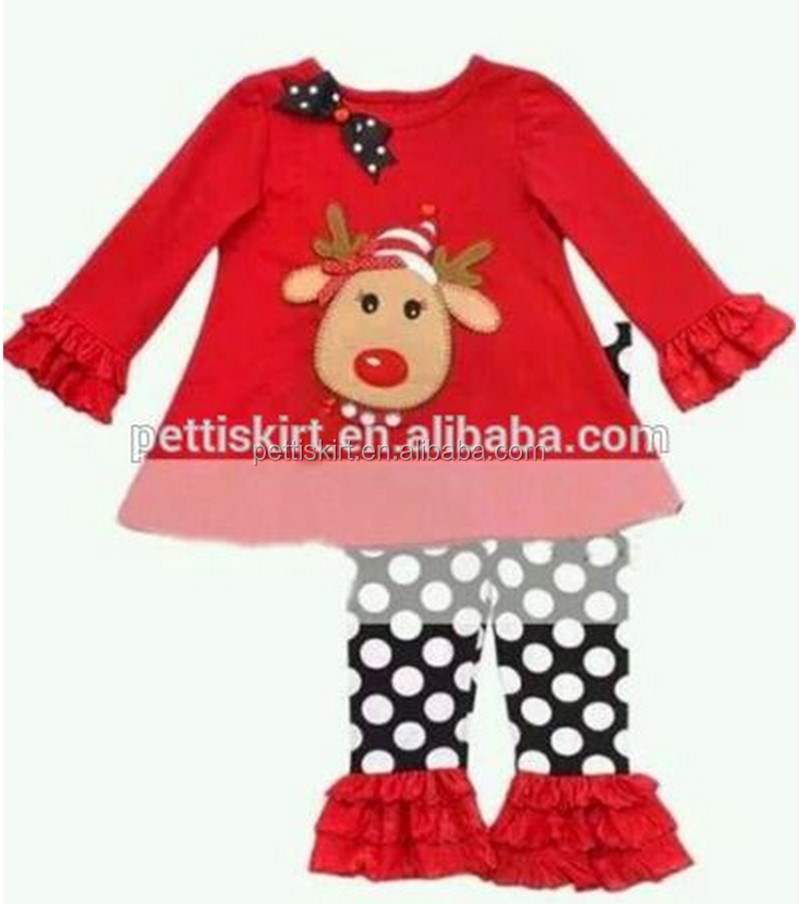 Childrens boutique clothing fall 2015 kids christmas outfits wholesale toddler christmas outfit