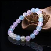 Nouveau holographique mystique Aurora perle Borealis cadeau pierre givrée blanc sirène verre Bracelet Bracelet extensible