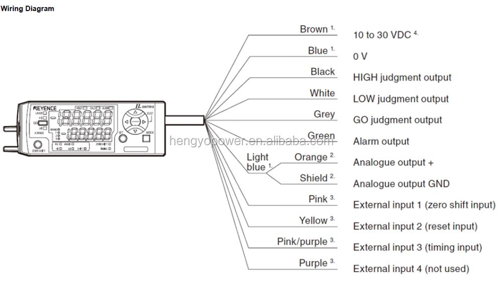 Keyence Cmos Multifunction Analog Laser Sensor Il Series Il1050 – Keyence Nsor Wire Diagram