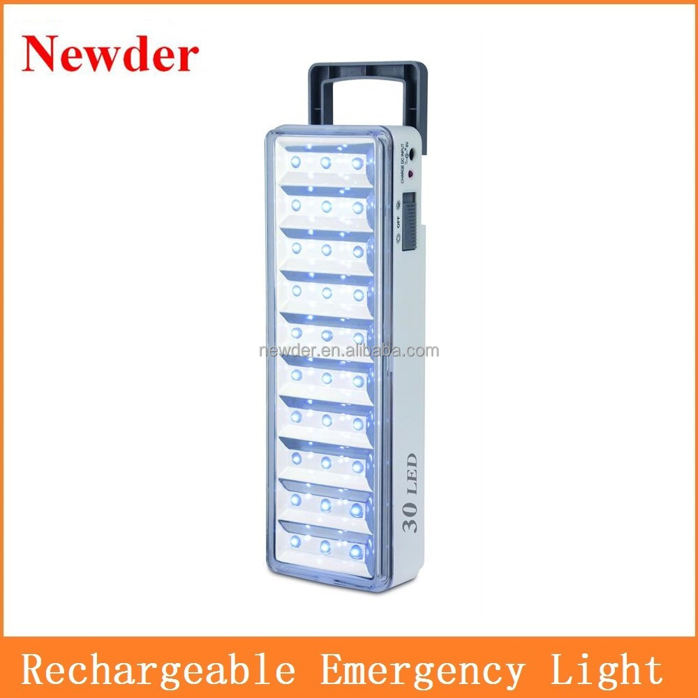 Rechargeable solar 30 led emergency light with handle