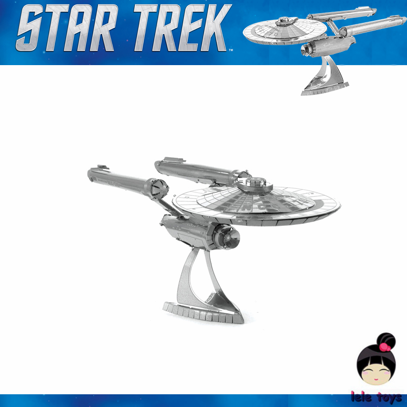 Star Trek ENTERPRISE NCC 1701 3D metal puzzle model nano 2 Sheets Wholesale price Stainless steel