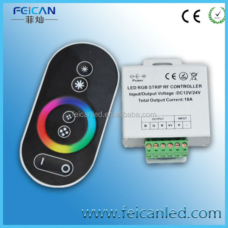 RGB color changing key press touching led light strip remote control