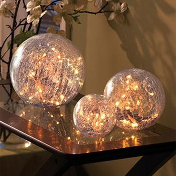 Glazen Kerstbal Met Led Verlichting - ARCHIDEV
