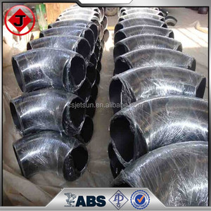 China supplier carbon steel pipe fittings 90 deg welding elbow ,ASME &JIN Standard