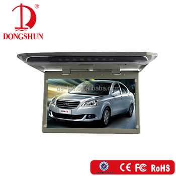 Japanese/Koran/Thai/English OSD 12 inch car usb lcd roof monitor with HDMI