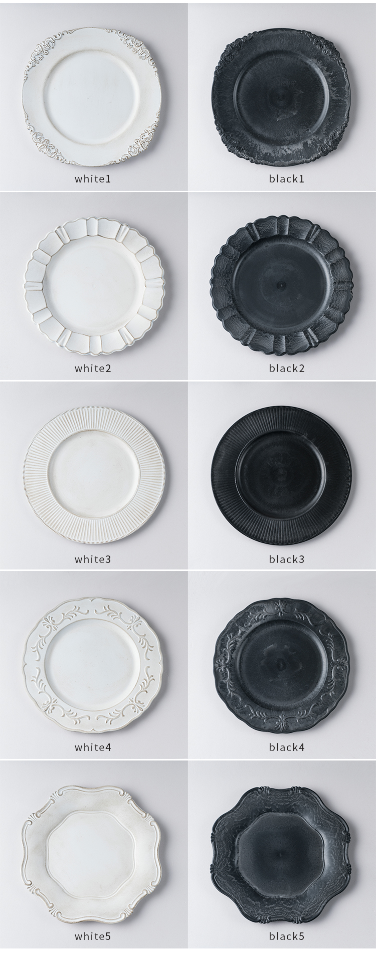 Handmade Plastic Decorative Dishes Plates for Wedding Party