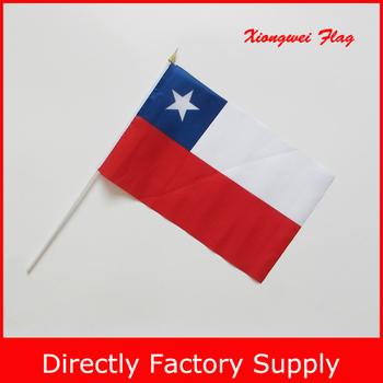 yiwu flag factory custom small quantity chile hand flag banner buy