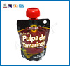 wholesale FDA food grade 90 gram stand up spout pouch for pulpa de tamarindo