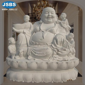 Large Happy Buddha Sculpture For Sale