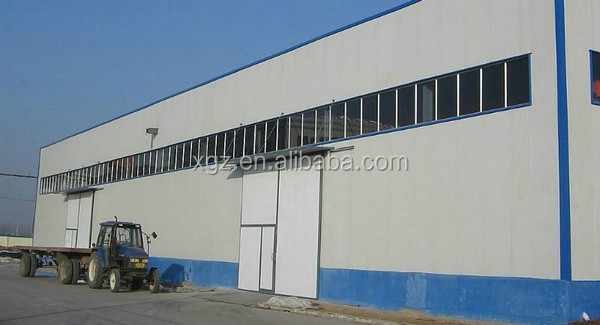 easy assembly pre-made prefabricated steel factory shed building