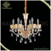 Hot sale modern style gold glass lamp body with crystal luxury candle chandelier light