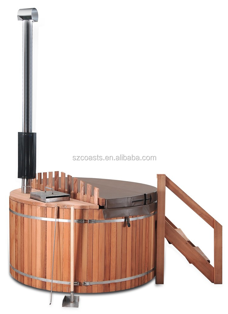 20 Years Factory Wood Fired Outdoor Hot Tub Wooden Round