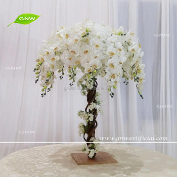 Gnw Ctr1707003 Artificial Ivory Orchid Flower Centerpieces For