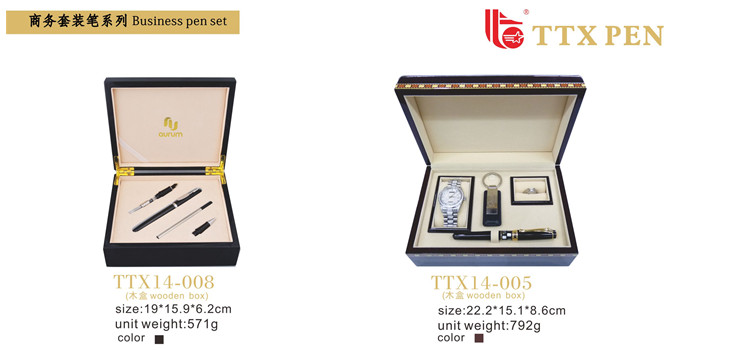 Wholesale watch,ring,pen,keyring gift business pen set for business use