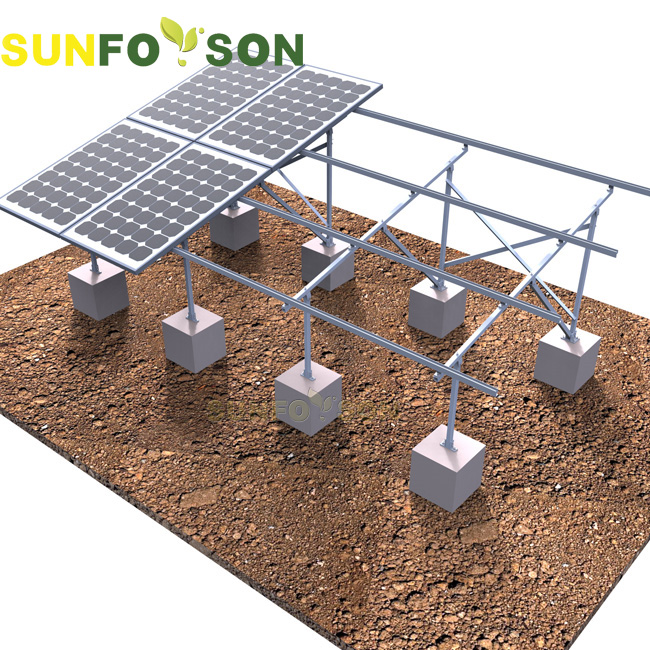 Aluminum Pv Ground Mounted Solar Panel Frames Support