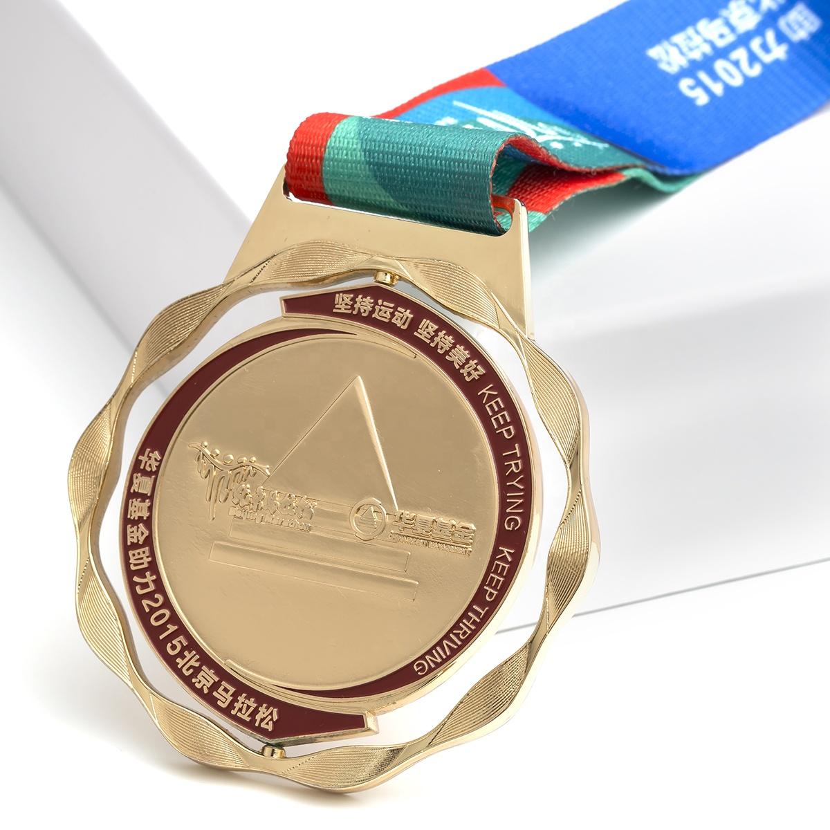 Wholesale gold zinc alloy marathon sports medal with best quality fiesta trophy blank custom 3d metal medal