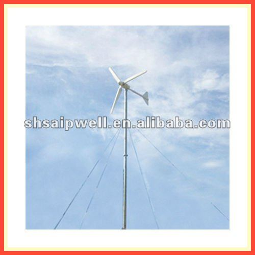 Reinforced fiber glass sine wave 240V Horizontal Axis Solar Wind turbine 20kw