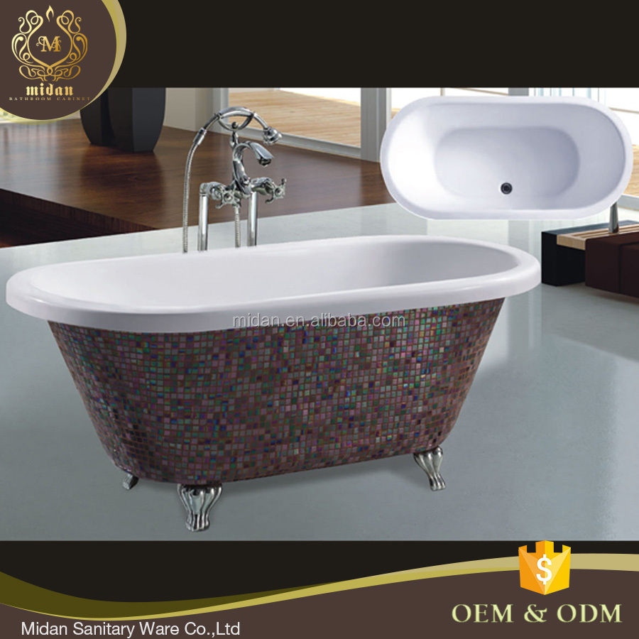 Hot Sale Bathtub Poland,Mosaic Decorated Freestanding Bathtub,Royal ...