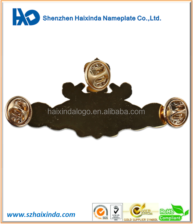 Customized high-end die casting metal emblem lapel pins
