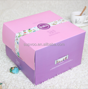 Cheap Customized Paper Cardboard Birthday Cake Boxes