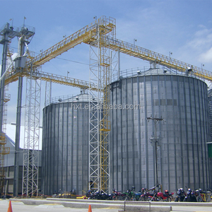 5000 ton maize corn seeds storage steel silos