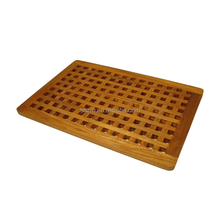 Luxe Bamboe Hout Bad Douche Spa <span class=keywords><strong>Sauna</strong></span> <span class=keywords><strong>Mat</strong></span>