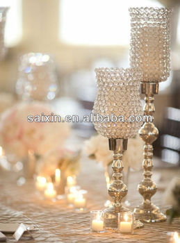 Luxury Crystal Candle Centerpiece For Wedding Decor