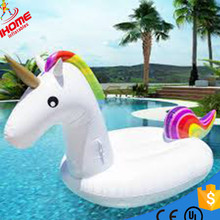 270CM Giant Rainbow Inflatable Unicorn Pool Float Toy Outdoor Fun Water Swim Floater