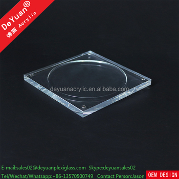 Acrylic Material Double Photo Frame / CD Holder With Magnet
