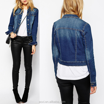 9a9974718c677 Fashion Ladies Casual Coats Women Light Blue Denim Jacket - Buy ...