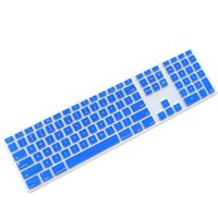 Wholesale Fade in-Blue Ultra Thin keyboard Cover Skin for Apple iMac Keyboard MB110LL/B with Numeric Keypad Wired USB